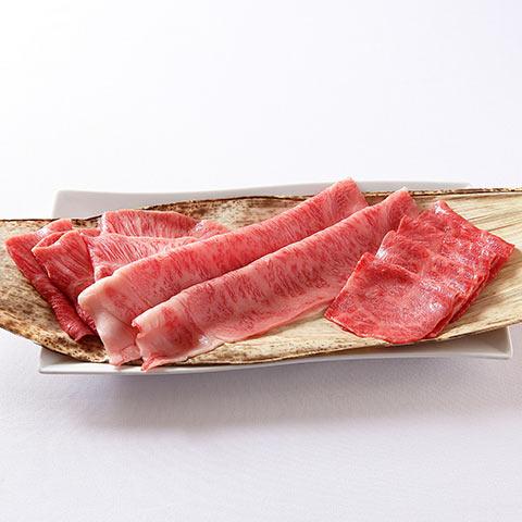 国産 黒毛和牛(ザブトン・特上ミスジ・大判サーロイン)と濃厚な卵「あわそだち」の贅沢焼きすき食べ比べセット