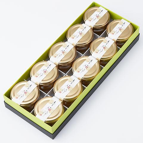 香梅鈴 10個入りセット 青梅とブルーアガべシロップの甘露煮