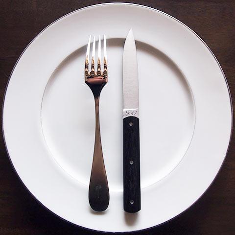 Perceval テーブルナイフ「9.47」6本セット(黒壇)