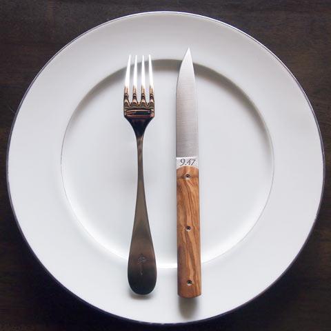 Perceval テーブルナイフ「9.47」6本セット(オリーブ)