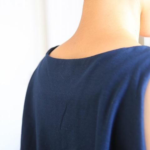 ソフィエのオリジナル授乳服 マキシ丈ワンピース ブルー