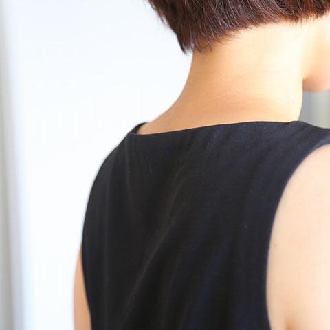 ソフィエのオリジナル授乳服 ノースリーブワンピース ブラック