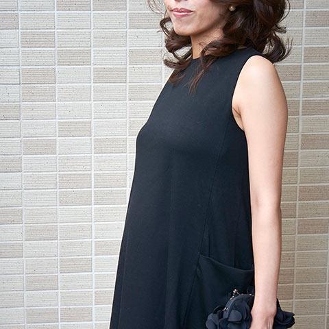 ソフィエのオリジナル授乳服 サイドポケットワンピース