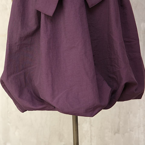ソフィエのオリジナル授乳服 袖付バルーンワンピース ボルドー