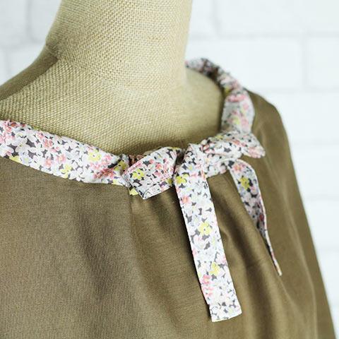 ソフィエのオリジナル 授乳ケープ (収納用ポーチ付き) ブラウン×ピンク