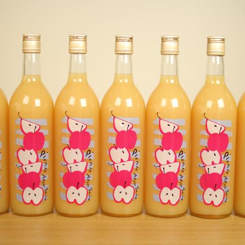 青森のりんごをまるまるしぼった 「picnic apple juice」 大きいサイズのセット