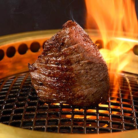 『格之進』門崎熟成肉 塊焼き(赤身&霜降り:120g×2)