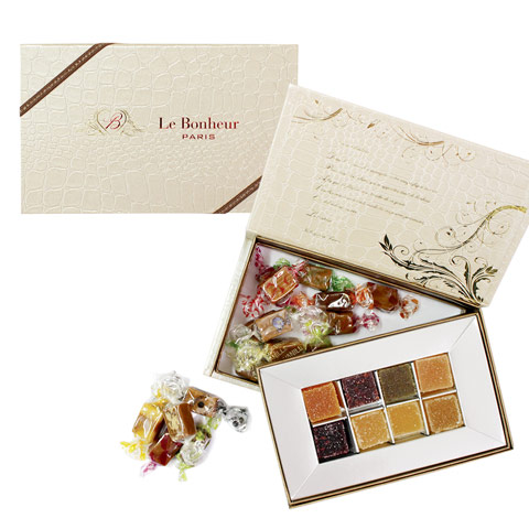 ル・ボヌール 芦屋 ラフィネの宝石箱 アソート2段BOX (パートドゥフリュイMサイズ8粒+キャラメル16粒)