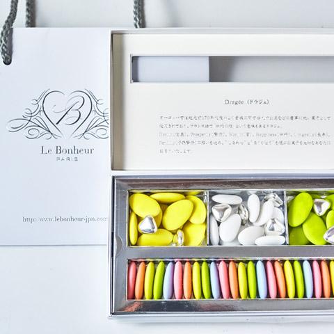 ル・ボヌール 芦屋 ドラジェ アソートボックス(ホワイト) M-YG