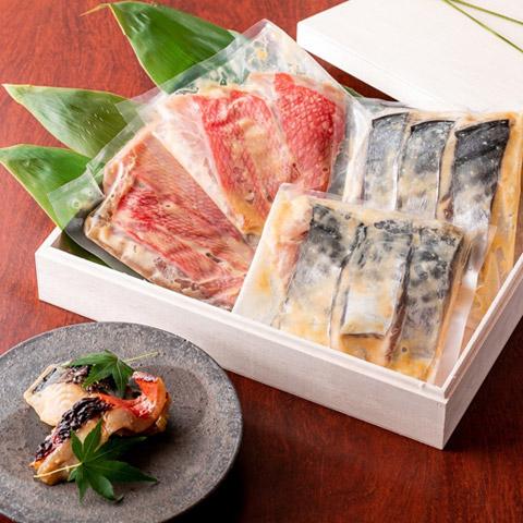 『神楽坂 創彩割烹 清水』鰆と金目鯛の西京焼き(季節の西京焼きセット)