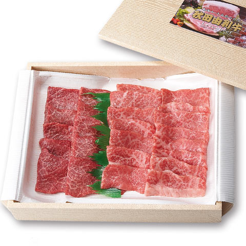 秋田かまくらミート 秋田由利牛 焼肉用モモ 200g・上カルビ 200g