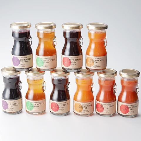 North Farm Stock ミニトマト・キャロットミックス・グレープ3種 ミニボトルセット