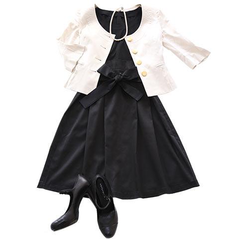 ソフィエのオリジナル授乳服 ウエストリボンワンピース ブラック